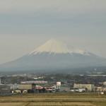 Fuji widziane z okna Shinkansena