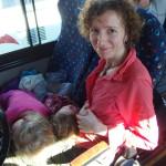 Nasze śpiochy w autobusie do Monteverde
