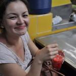 Tradycyjne lody w San Jose z mieszkanka Kostaryki