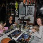 Tradycyjny posiłek z mieszkanką Kostaryki