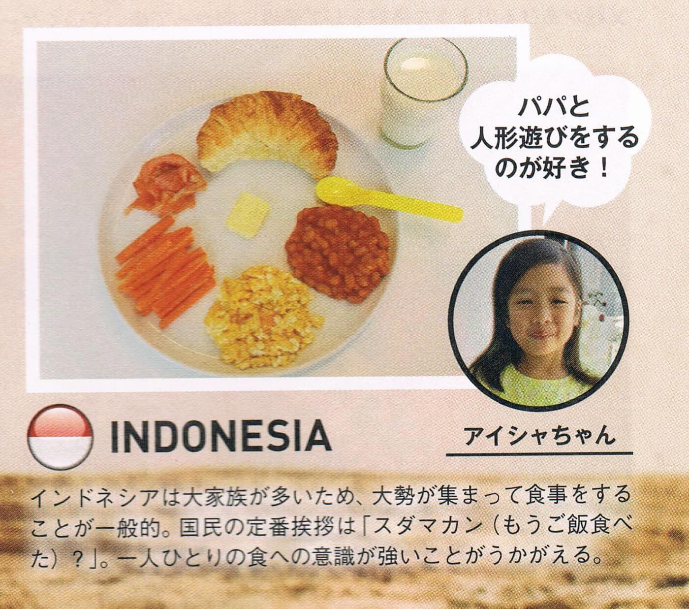 Dzieci śniadanie w Indonezji
