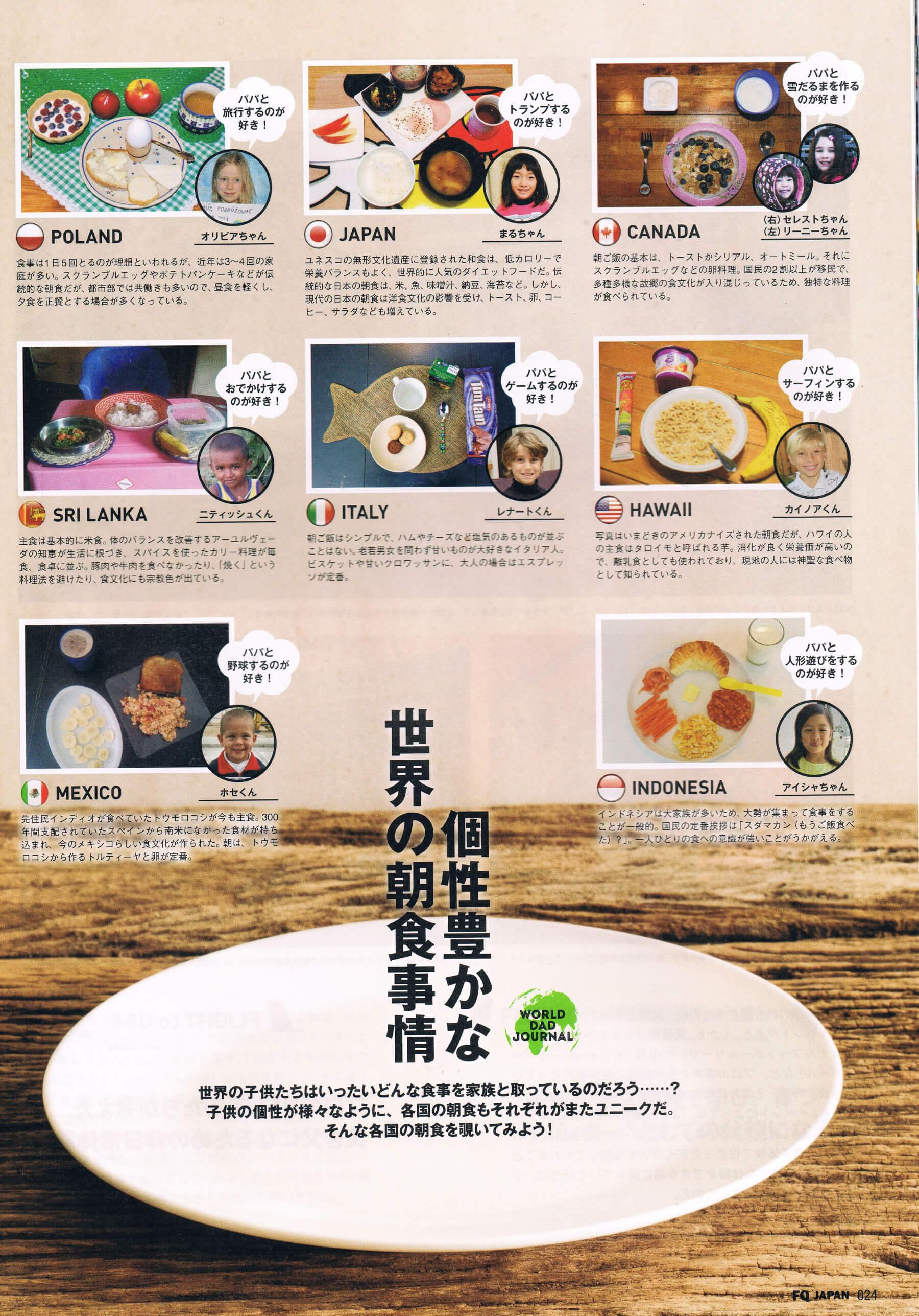 FQ Magazine - dzieci na śniadanie