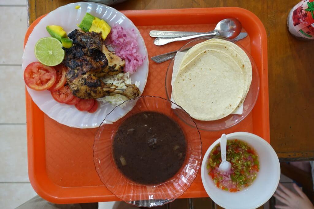 Meksyk i Valladolin - posiłek