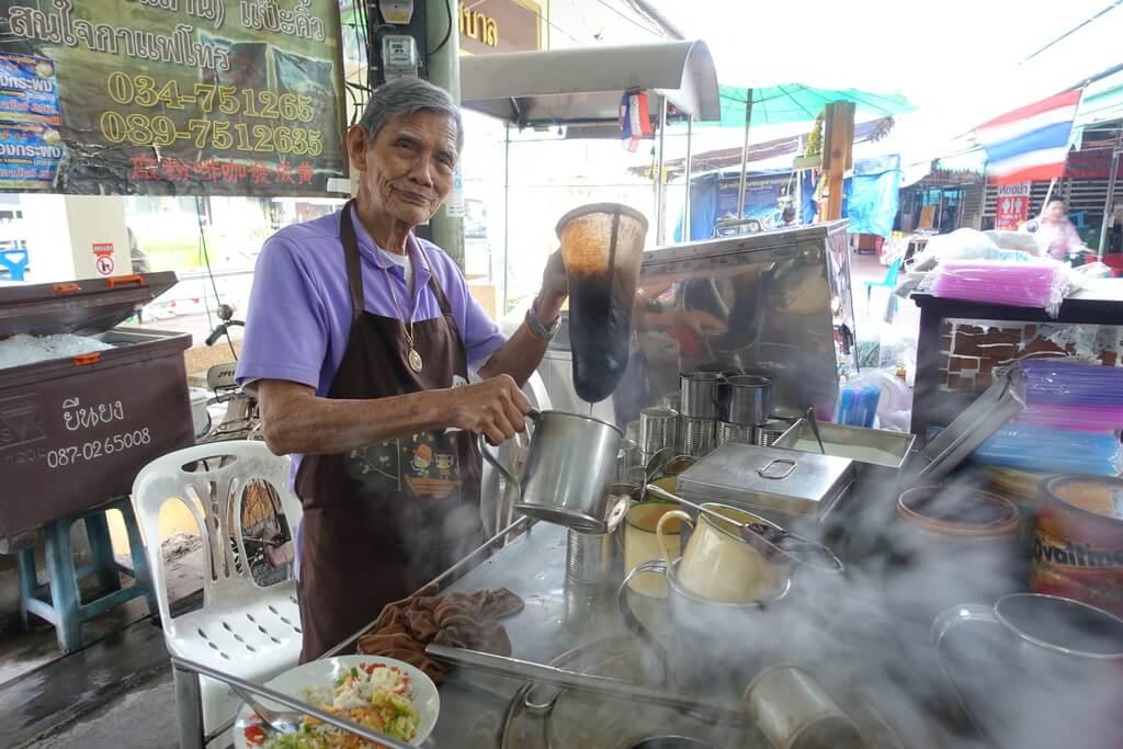 Tajska kawa w skarpecie